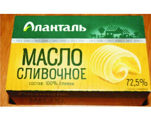 Масло сливочное Аланталь Крестьянское, 72.5%, 180 г
