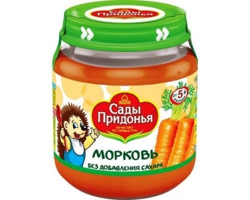 Пюре ТМ Сады Придонья Морковь, с 5 мес., 120 г