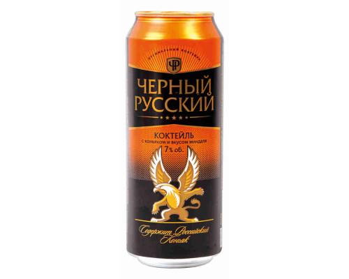 Напиток слабоалкогольный газированный Black Russian (Черный русский) with cognac and almond, 7,2%, 0.5 л