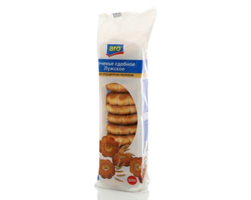 Печенье сдобное Лужское со сгущенным молоком ТМ Aro (Аро)