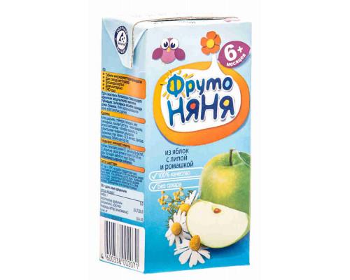 Напиток ФрутоНяня яблоко/ромашка/липа с 6мес 200мл т/п