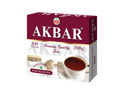 Чай черный ТМ Akbar (Акбар) Гранатовая серия, 100х2 г