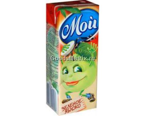 Сок ТМ Мой, зеленое яблоко, 0,2 л