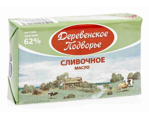 Масло Деревенское подворье 62% 180г фольга