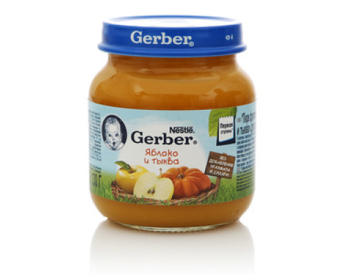 Пюре яблоко и тыква ТМ Gerber (Гербер)