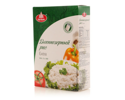 Рис длиннозерный 5*100г ТМ Агро-Альянс