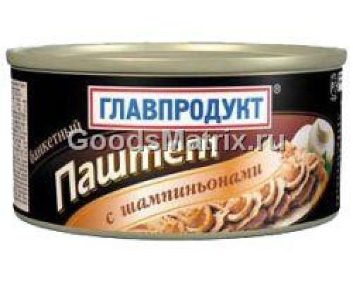 Паштет банкетный с шампиньонами Главпродукт, 315 г