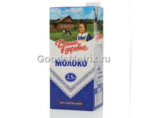 Молоко ТМ Домик в деревне, ультрапастеризованное 2,5% 950 г