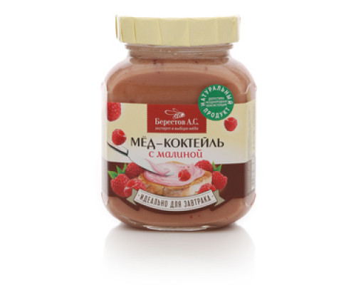 Мед-коктейль с малиной ТМ Берестов А.С.
