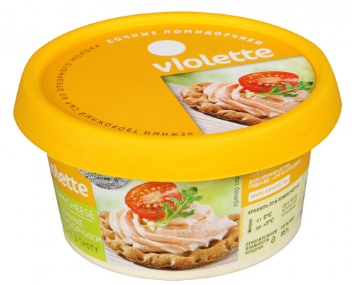 Сыр творожный ТМ Violette (Виолетте) Сочные помидорчики, 140 г