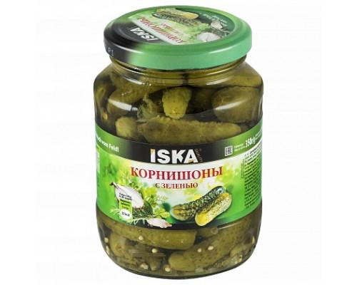 Корнишоны с зеленью ТМ Iska (Иска), 350 г