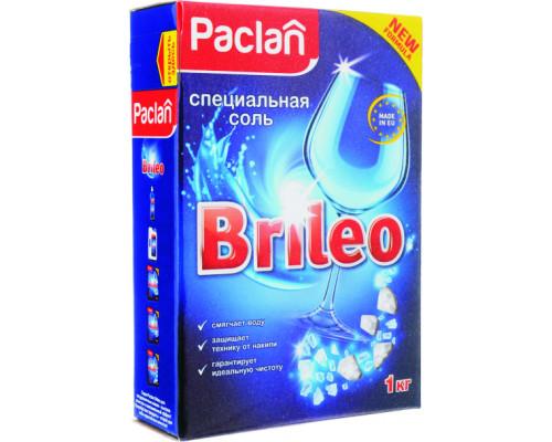 Соль ТМ Paclan (Паклан) Brileo специальная для посудомоченых машин, 1 кг