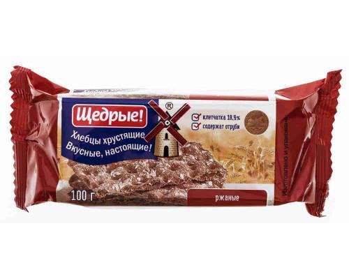 Хлебцы ТМ Щедрые, хрустящие ржаные 100 г