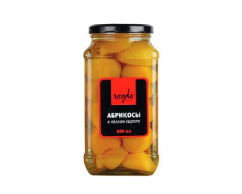 Абрикосы в легком сиропе ТМ Vegda (Вегда)