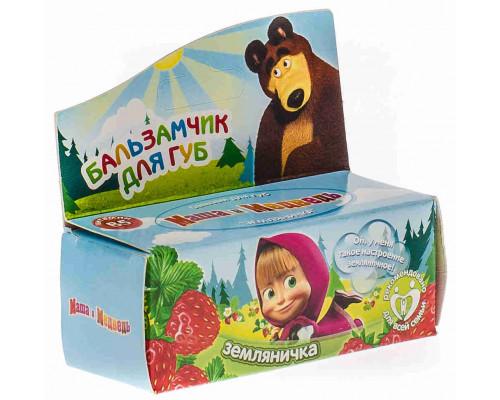 Бальзам д/губ Маша и Медведь Земляничка 4,5г