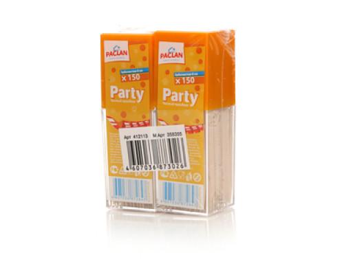 Зубочистки деревянные 8см Party 2*150шт Paclan (Паклан)