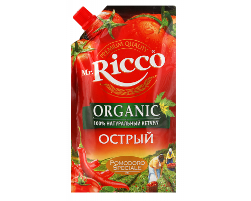 Кетчуп Mr.Ricco (Мистер Рикко) острый, 350 мл