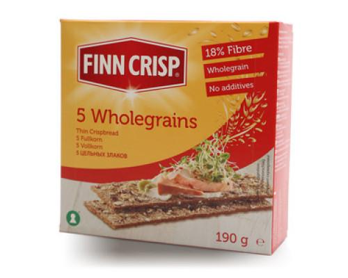 Сухарики ТМ Finn Crisp (Финн Крисп), цельнозерновые 190 г