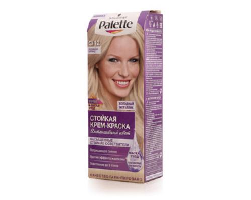 Крем-краска стойкая Интенсивный цвет №12 Ледяной блонд ТМ Palette (Палетт)