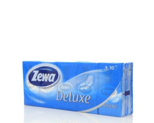 Носовые платочки 10*10шт ТМ Zewa Deluxe (Зева Делюкс)