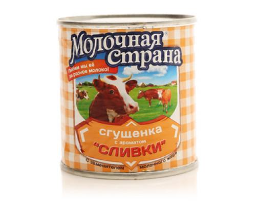 Сгущенка с ароматом Сливки с заменителем молочного жира 19,0%  ТМ Молочная страна