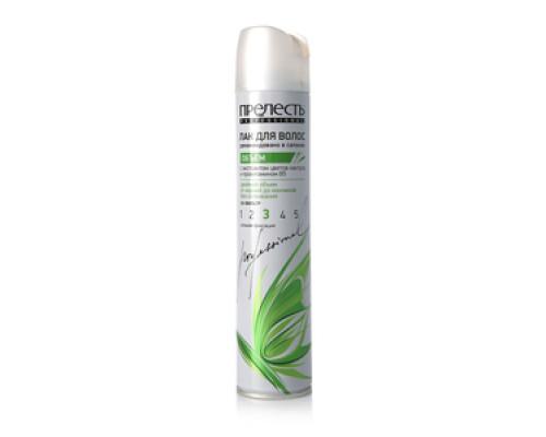Лак для волос с экстрактом цветов кактуса и провитамином В5 Прелесть professional сильная фиксация ТМ Прелесть