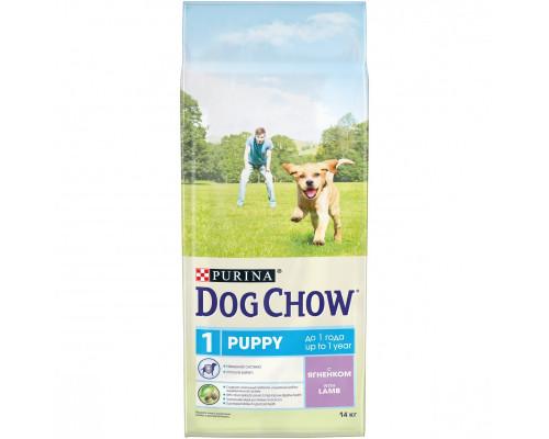 Корм для щенков Dog Chow Puppy (Дог Чау Паппи) Ягненок, 14 кг