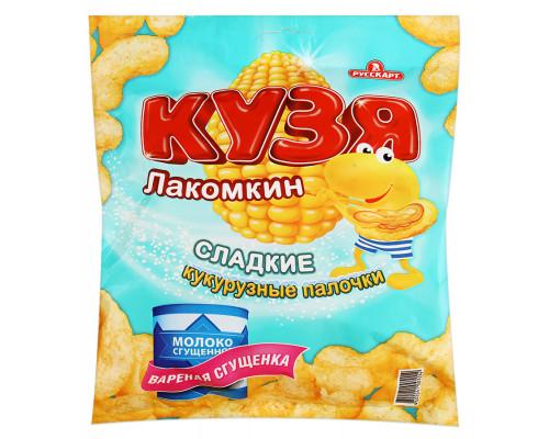 Кукурузные палочки ТМ Кузя Лакомкин, со вкусом вареной сгущенки, 65 г