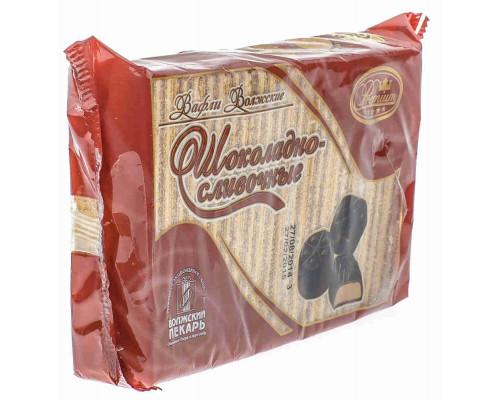 Вафли Волжские шоколадно-сливочные 220г