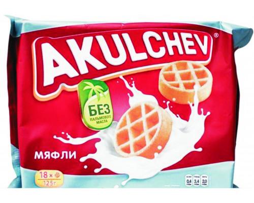 Вафли мягкие Мяфли Акульчев, 125 г
