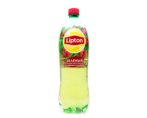 Чай зеленый ТМ Lipton (Липтон), со вкусом земляники и клюквы, 1 л