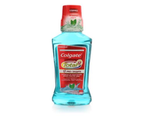 Ополаскиватель для полости рта Pro-защита Нежная мята ТМ Colgate Total 12 (Колгейт тотал 12)