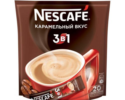 Кофе ТМ Nescafe (Нескафе) 3 в 1, Карамель, растворимый, 20х16 г