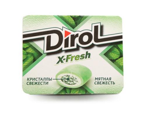 Жевательная резинка без сахара с мятным вкусом ТМ Dirol X-fresh (Дирол Икс-Фреш)