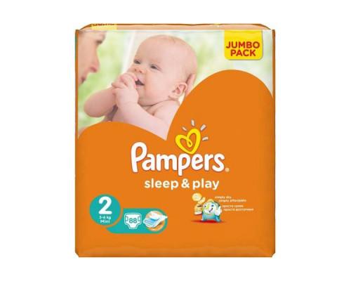 Подгузники ТМ Pampers (Памперс) Sleep&Play (2), 3-6 кг, 88 шт.