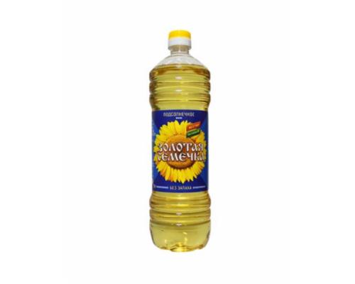 Масло подсолнечное ТМ Золотая семечка, рафинированное, 1 л