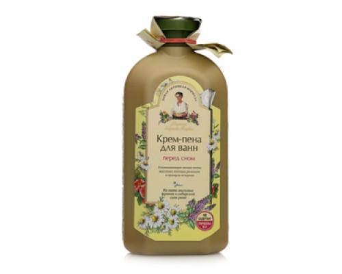 Крем-пена для ванн перед сном На пяти мыльных травах и сибирской соли рапа ТМ Рецепты бабушки Агафьи