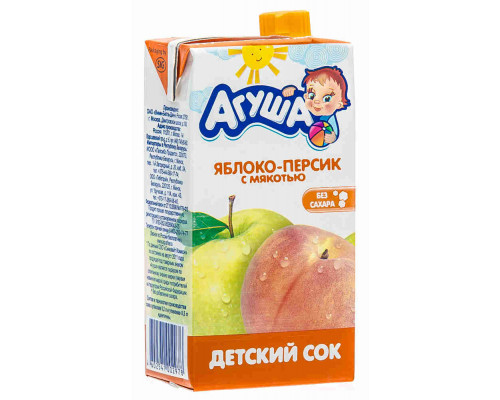 Сок Агуша яблоко/персик 500мл т/п