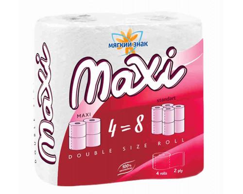 Туалетная бумага Мягкий знак Maxi 2сл 4рул