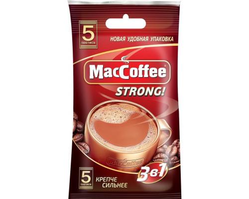 Напиток кофейный ТМ MacCoffee (МакКофе) 3 в 1 Strong , 5 шт.