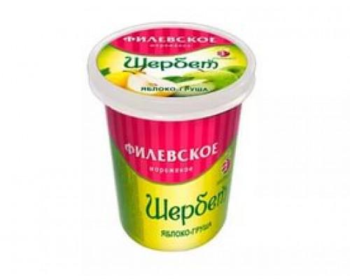 Мороженое Шербет Филевское Айсберри, Яблочно-грушевый, 80 г