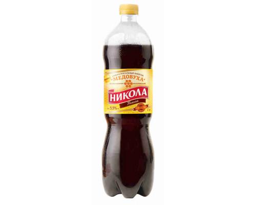 Напиток слабоалкогольный Медовуха Никола Темная 5,5% 1л