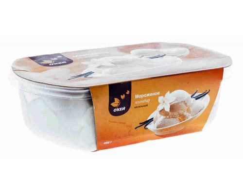 Мороженое пломбир О`кей ванильный, 450 г