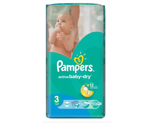 Подгузники ТМ Pampers (Памперс) Active Baby-Dry, Midi 5-9 кг, 54 шт.