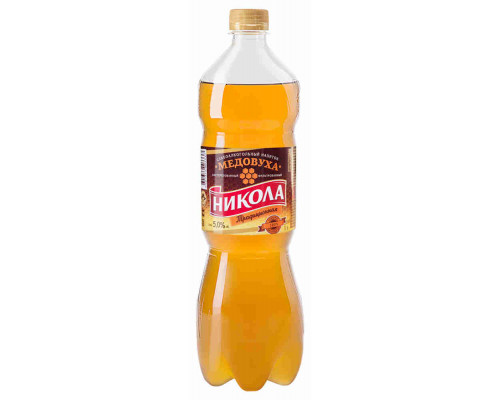 Напиток слабоалкогольный Медовуха Никола Традиционная 5% 1л