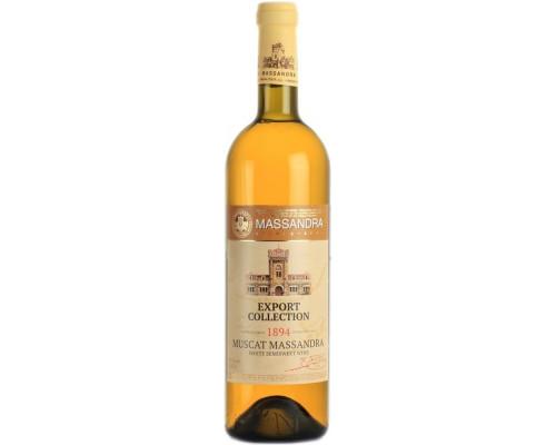 Вино Muskat Massandra Export Collection (Массандра Мускат Экспорт Коллекшн), белое, полусладкое, 0,75 л