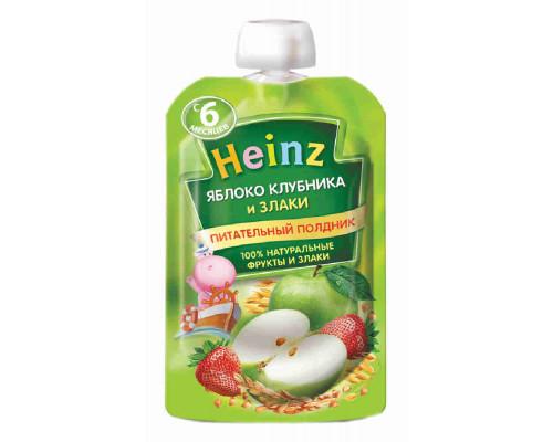 Пюре Heinz яблоко/клубника/злаки 90г