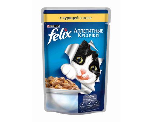 Корм д/кошек Felix с курицей 85г