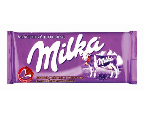 Шоколад ТМ Milka, молочный орех 90 г