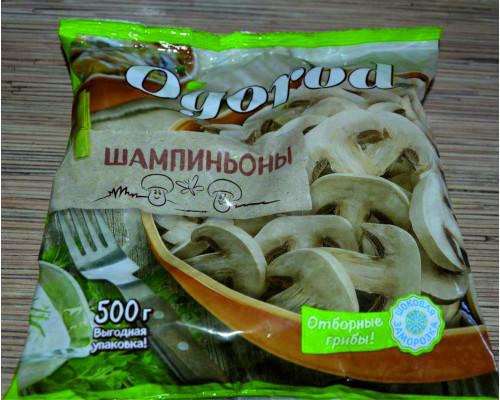 Грибы шампиньоны ТМ О`gorod (О'город), резаные, замороженные, 500 г